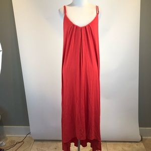 Cynthia Rowley Red Sleeveless Rayon Bl Maxi Dress